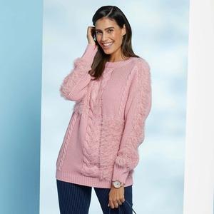 Damen-Pullover mit Flausch-Effekten