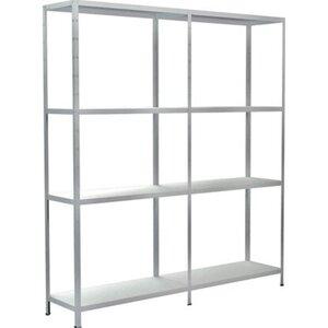 Schulte Set 1 Steckregal und 1 Anbauregal Weiß 180 cm x 160 cm x 35 cm