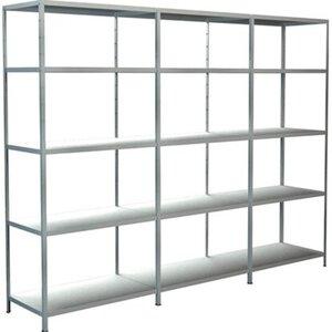 Schulte Regal-Set 1 Steckregal und 2 Anbauregale 200 cm x 260 cm x 50 cm Weiß