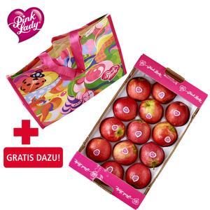 """Frankreich Tafeläpfel """"Pink Lady"""" Kennzeichnung siehe Etikett, jede 2-kg-Kiste"""