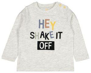 HEMA Baby-Shirt, Hey Grau