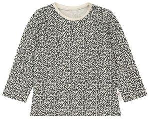 HEMA Baby-Shirt, Tierfleckenmuster Eierschalenfarben