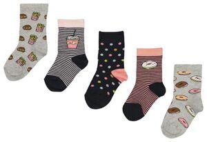 HEMA 5er-Pack Kinder-Socken, Donuts Bunt