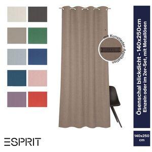 Ösenvorhang Harp • 140 x 250 cm • grosse Farbauswahl - Beige / 1 Stueck (140x250)
