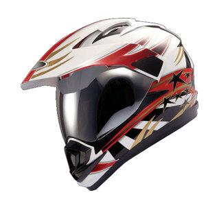 Explorer Motorcross Helm XP-02 weiß mit Muster, Größe XL