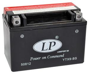 Landport YTX9-BS AGM Motorrad Batterie, 12 V 8 AH