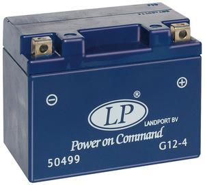 Landport G12-4 GEL Motorrad Batterie, 12 V 4 AH