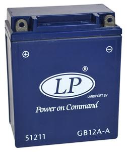 Landport GB12A-A GEL Motorrad Batterie, 12 V 12 AH