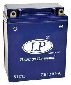 Landport GB12AL-A GEL Motorrad Batterie, 12 V 12 AH