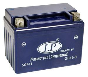Landport GB4L-B GEL Motorrad Batterie, 12 V 4 AH