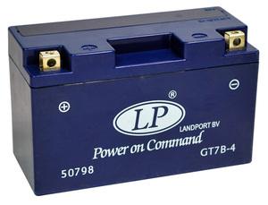 Landport GT7B-4 GEL Motorrad Batterie, 12 V 6 Ah