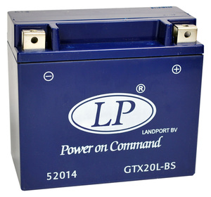 Landport GTX20L-BS GEL Motorrad Batterie, 12 V 18 Ah
