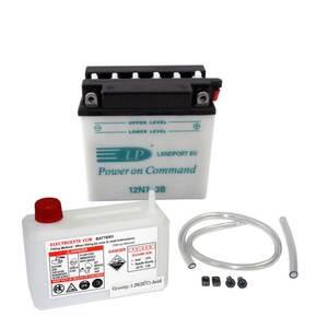 Landport 12N7-3B,YB7L-B Motorrad Batterie mit Säurepaket, 12V, 7Ah