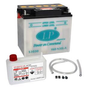Landport Y60-N30L-A Motorrad Batterie mit Säurepaket, 12V, 30Ah