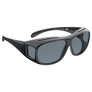 WEDO® Überzieh-Sonnenbrille für Brillenträger inkl. Brillenhülle, schwarz, 1 Stück