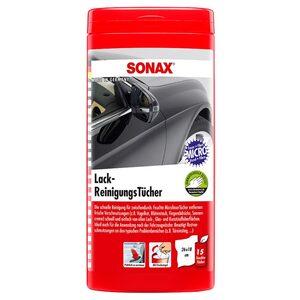 SONAX 4124000 LackReinigungsTücher Box, 15 Stück