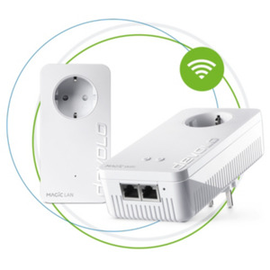 Devolo Magic 2 WiFi ac Next Starterkit (2400Mbit, Powerline+WLAN, 3x LAN, Mesh)