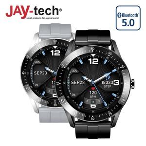 """Smartwatch SWS11 · 1.28""""/3,25 cm IPS-Touch-Display · Multi-Sport-Modus · Zeit-/ Strecken-/ Kalorienaufzeichnung · Herzfrequenz-/ Blutdruckmesser · IP67 wasserfest · Textnachrichten- und Anrufan"""