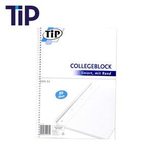 Collegeblock DIN-A4 80 Blatt, perforiert und gelocht, mit Rand, liniert oder kariert, ab 3 Stück, je