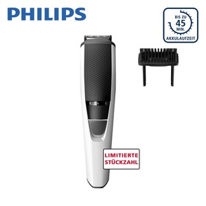Bartschneider Series 3000 BT 3206/14 · Akkubetrieb · 10 Längeneinstellungen mit Zoom-Rad: 0,5 - 10 mm · integr. Hair-Lift-Kamm · selbstschärfende, abwaschbare Edelstahlklingen