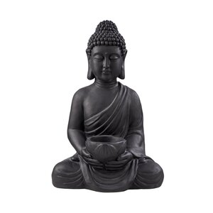 BUDDHA Statue sitzend mit Kerzenteller Höhe 46cm