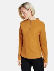 Sweatshirt mit Rippenstruktur Gelb 40/M