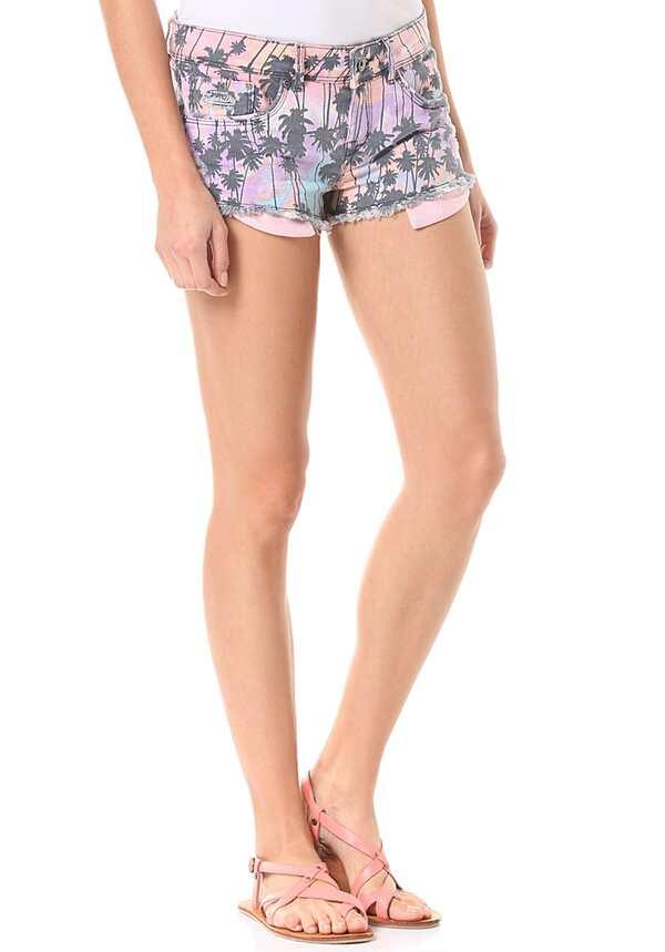 SUPERDRY Printed Hot - Shorts für Damen - Mehrfarbig