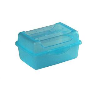 Brotdose - blau - 11 x 7,5 x 6 cm