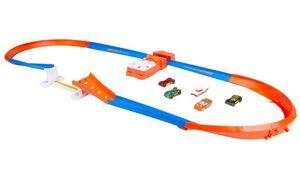 Mattel - Hot Wheels - Steilkurven Super-Sprung Trackset im Retrostil mit 5 Hot Wheels Fahrzeugen, Geschenk für Kinder ab 5 Jahren