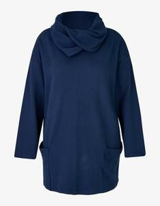 Thea - Long-Sweatshirt mit weitem Rollkragen