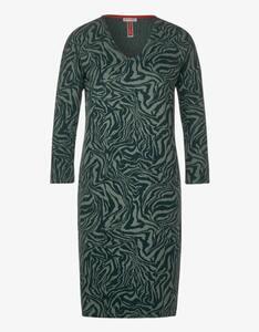 Street One - Jacquard-Kleid mit V-Ausschnitt