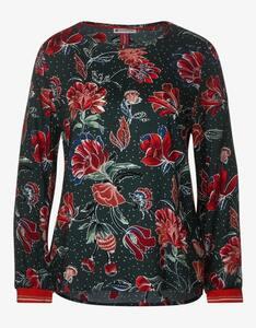Street One - Blusenshirt mit floralem Druck, reine Viskose