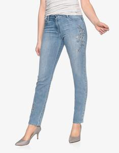 Steilmann Woman - Jeanshose mit Blumenstickerei