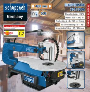 Scheppach Dekupiersäge SD1600V, SE inkl. LED-Arbeitslicht