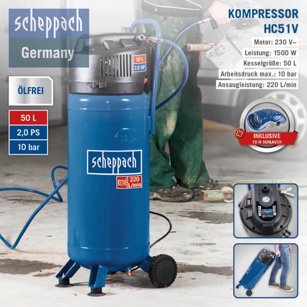 Scheppach Kompressor VC52Pro SE