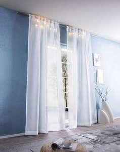 I-Glow LED-Vorhangschals, Weiß - 2er-Set