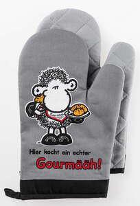 Sheepworld Ofenhandschuhe - Hier kocht ein Gourmääh, 2er-Set