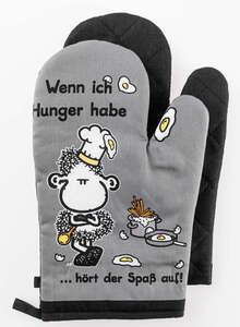 Sheepworld Ofenhandschuhe - Wenn ich Hunger habe hört der Spaß auf, 2er-Set