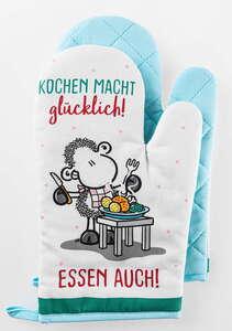 Sheepworld Ofenhandschuhe - Kochen macht glücklich, 2er-Set
