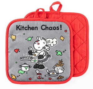 Sheepworld Topflappen - Kitchen Chaos, 2er-Set
