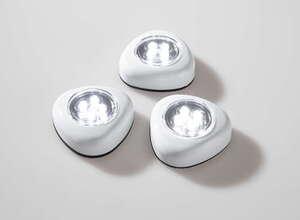 I-Glow LED-Spot, Silbergrau - 3er-Set