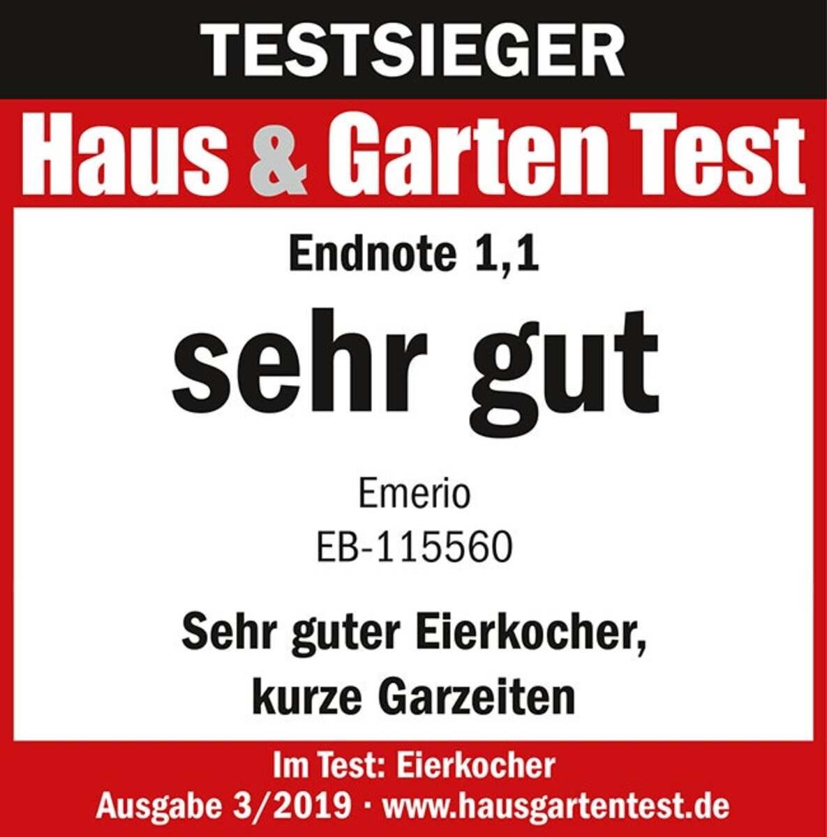 Bild 2 von Emerio Eierkocher mit Sprachansage EB-115560.2