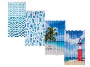 MIOMARE® Duschvorhang, 180 x 200 cm, mit 12 Ringen