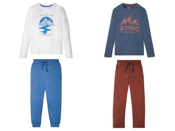 PEPPERTS® Pyjama Jungen, aus reiner Baumwolle