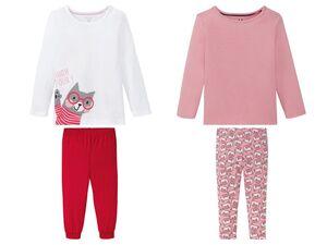 LUPILU® Kleinkinder Pyjama Mädchen, mit Print