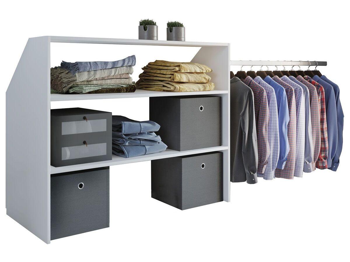 Bild 1 von VCM Dachschrägen-Regal »Dacho« inkl. verstellbarer Kleiderstange