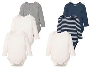LUPILU® Baby Rippbodies Jungen, 3 Stück, aus Baumwolle