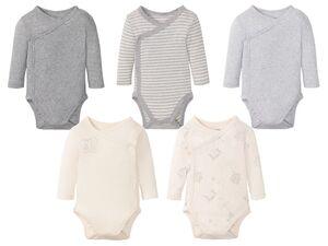 LUPILU® Baby Langarmbodies, 5 Stück, aus reine Baumwolle