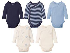 LUPILU® Baby Langarmbodies Jungen, 5 Stück