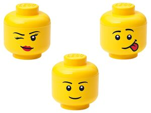 LEGO Aufbewahrungsbox, 2-teilig, mit Deckel, Unterteil